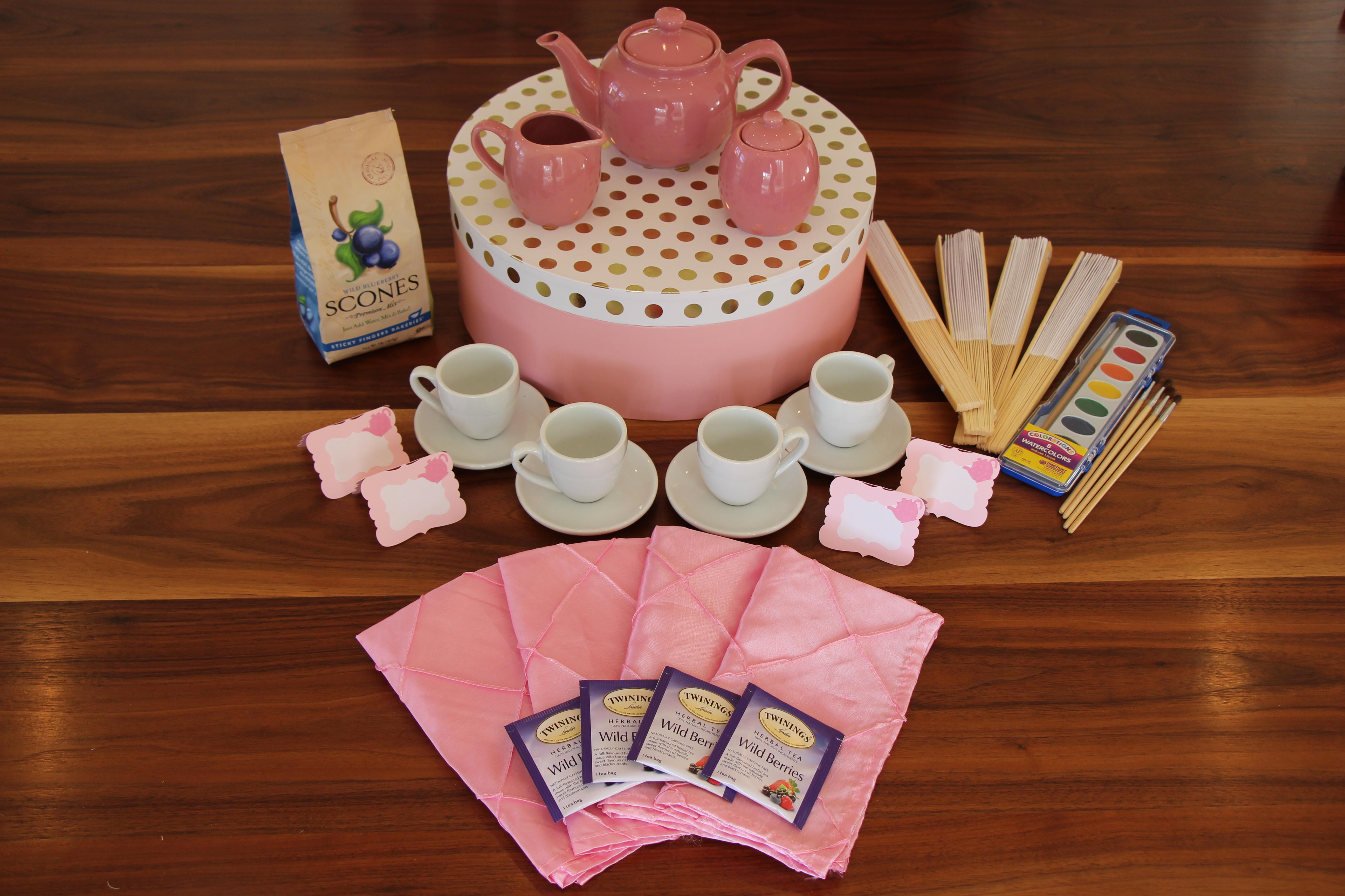 Tea set on display